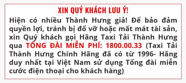 Ghim cảnh báo chống Thành Hưng giã trên website của Thành Hưng thật