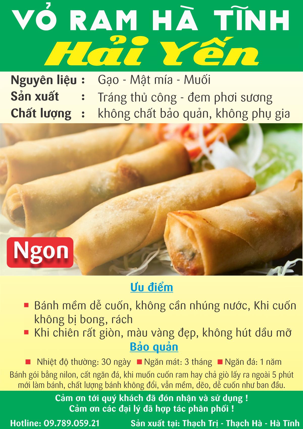 Vỏ ram Hà Tĩnh TPHCM của shop Hải Yến