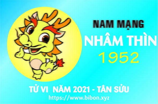 TỬ VI NĂM 2021 TUỔI NHÂM THÌN 1952 NAM MẠNG