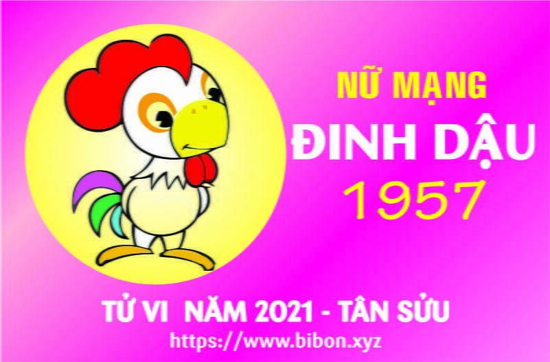 TỬ VI NĂM 2021 TUỔI ĐINH DẬU 1957 NỮ MẠNG