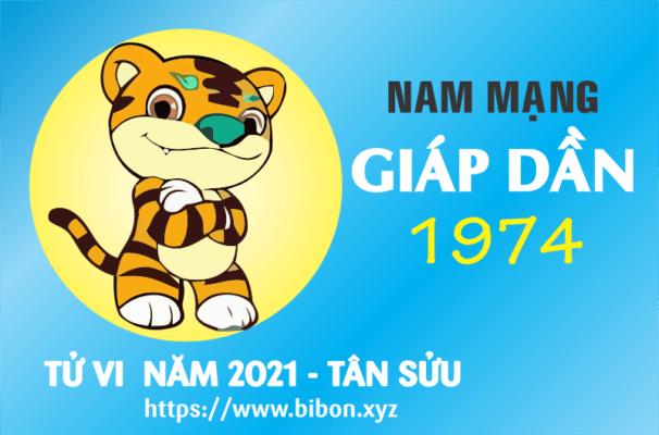 TỬ VI NĂM 2021 TUỔI GIÁP DẦN 1974 NAM MẠNG