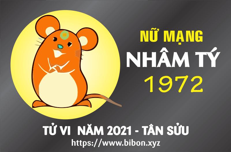 TỬ VI NĂM 2021 TUỔI NHÂM TÝ 1972 NỮ MẠNG