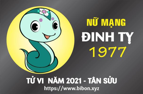 TỬ VI NĂM 2021 TUỔI ĐINH TỴ 1977 NỮ MẠNG