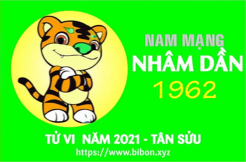 TỬ VI NĂM 2021 TUỔI NHÂM DẦN 1962 NAM MẠNG