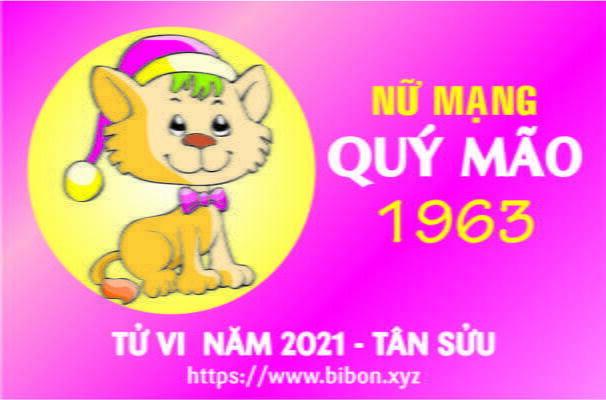 TỬ VI NĂM 2021 TUỔI QUÝ MÃO 1963 NỮ MẠNG