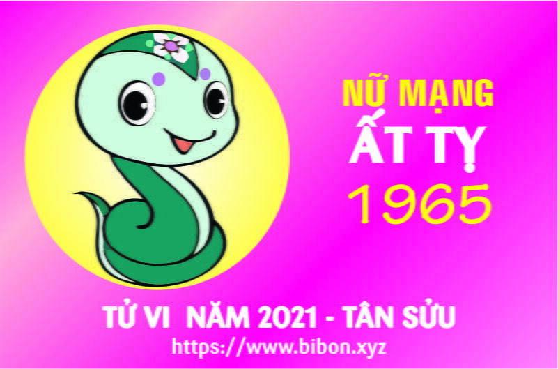 TỬ VI NĂM 2021 TUỔI ẤT TỴ 1965 NỮ MẠNG