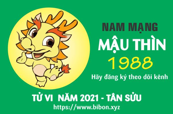 TỬ VI NĂM 2021 TUỔI MẬU THÌN 1988 NAM MẠNG