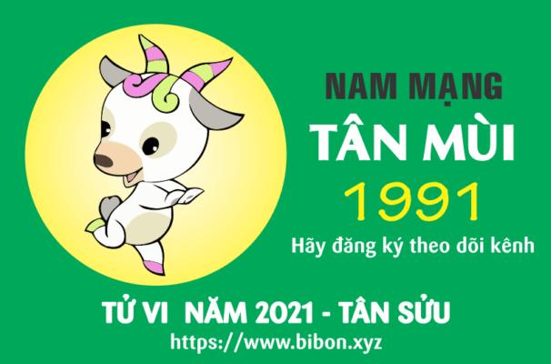 TỬ VI NĂM 2021 TUỔI TÂN MÙI 1991 NAM MẠNG