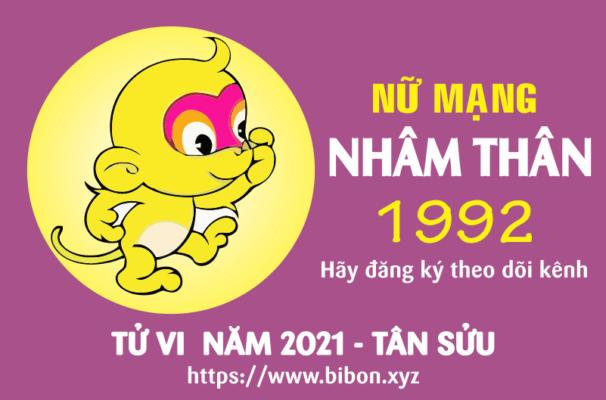 TỬ VI NĂM 2021 TUỔI NHÂM THÂN 1992 NỮ MẠNG