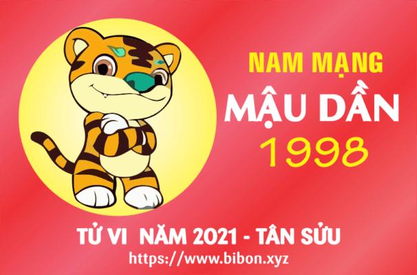 TỬ VI NĂM 2021 TUỔI MẬU DẦN 1998 NAM MẠNG