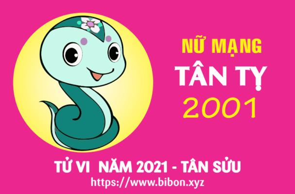 TỬ VI NĂM 2021 TUỔI TÂN TỴ 2001 NỮ MẠNG