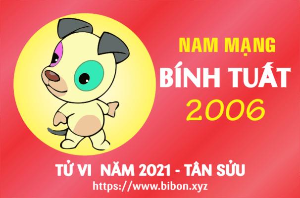 TỬ VI NĂM 2021 TUỔI BÍNH TUẤT 2006 NAM MẠNG